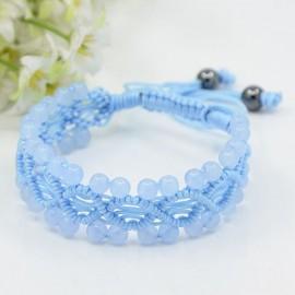 Macrame Aquamarine Bracelet