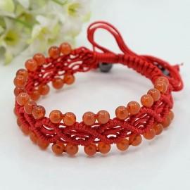 Macrame Carnelian Bracelet