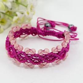 Macrame Watermelon stone Bracelet